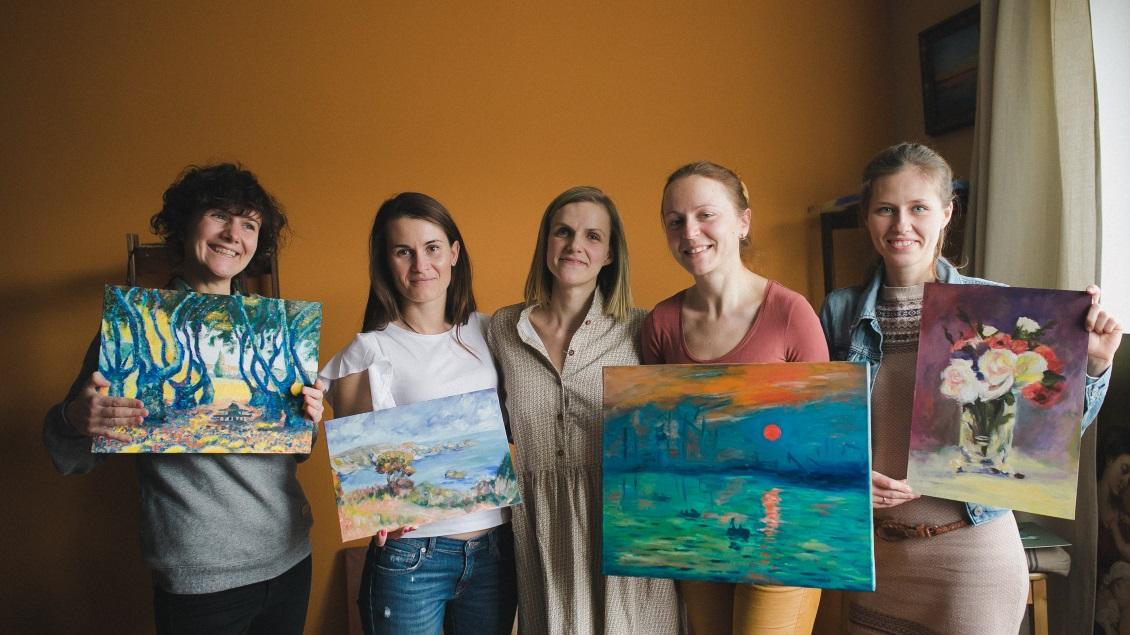 Корпоративные мастер-классы по живописи